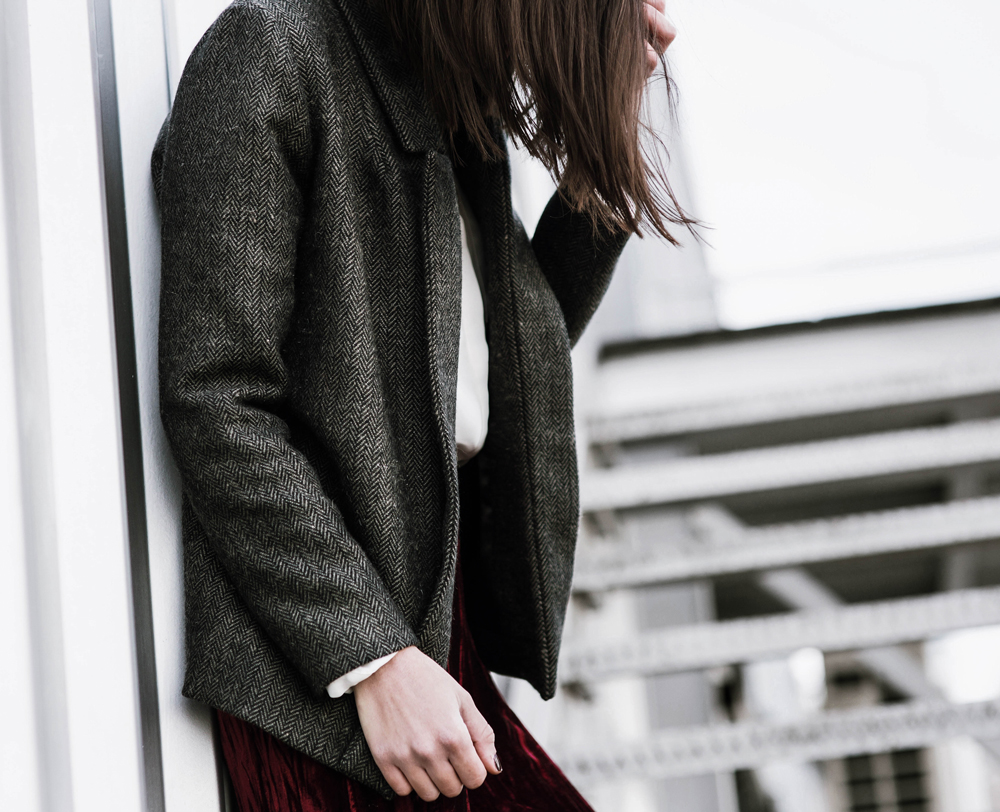 handmade tweed blazer