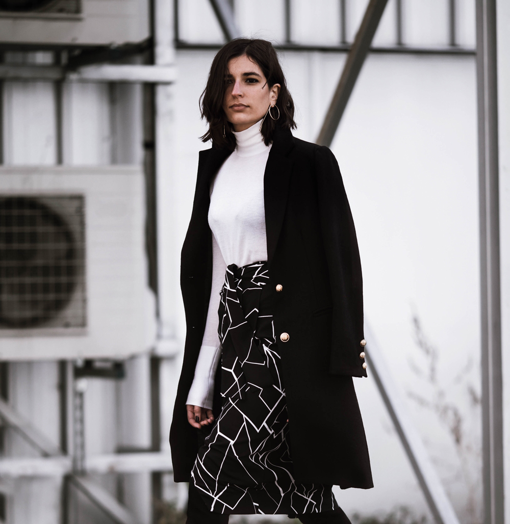 the abstract wrap skirt