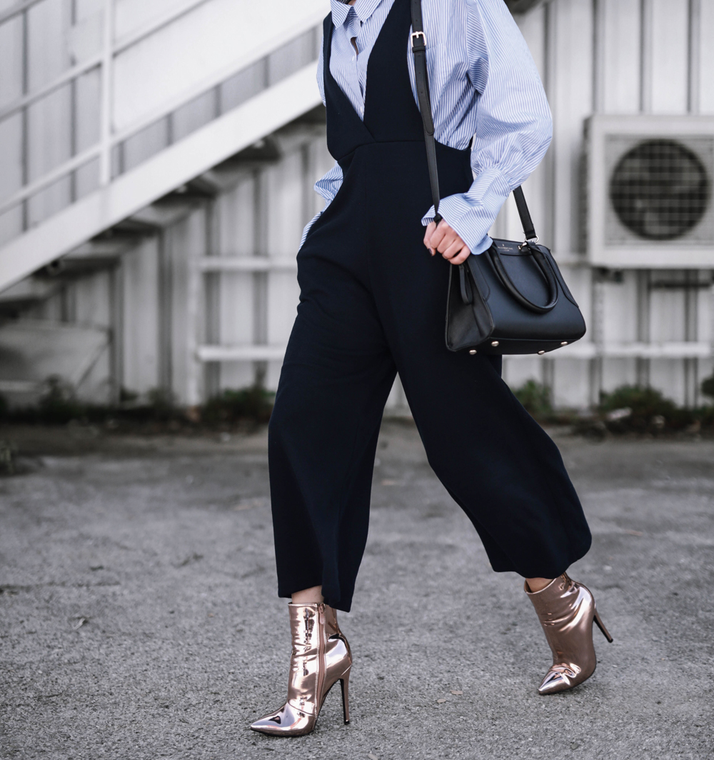 layering a jumpsuit for spring