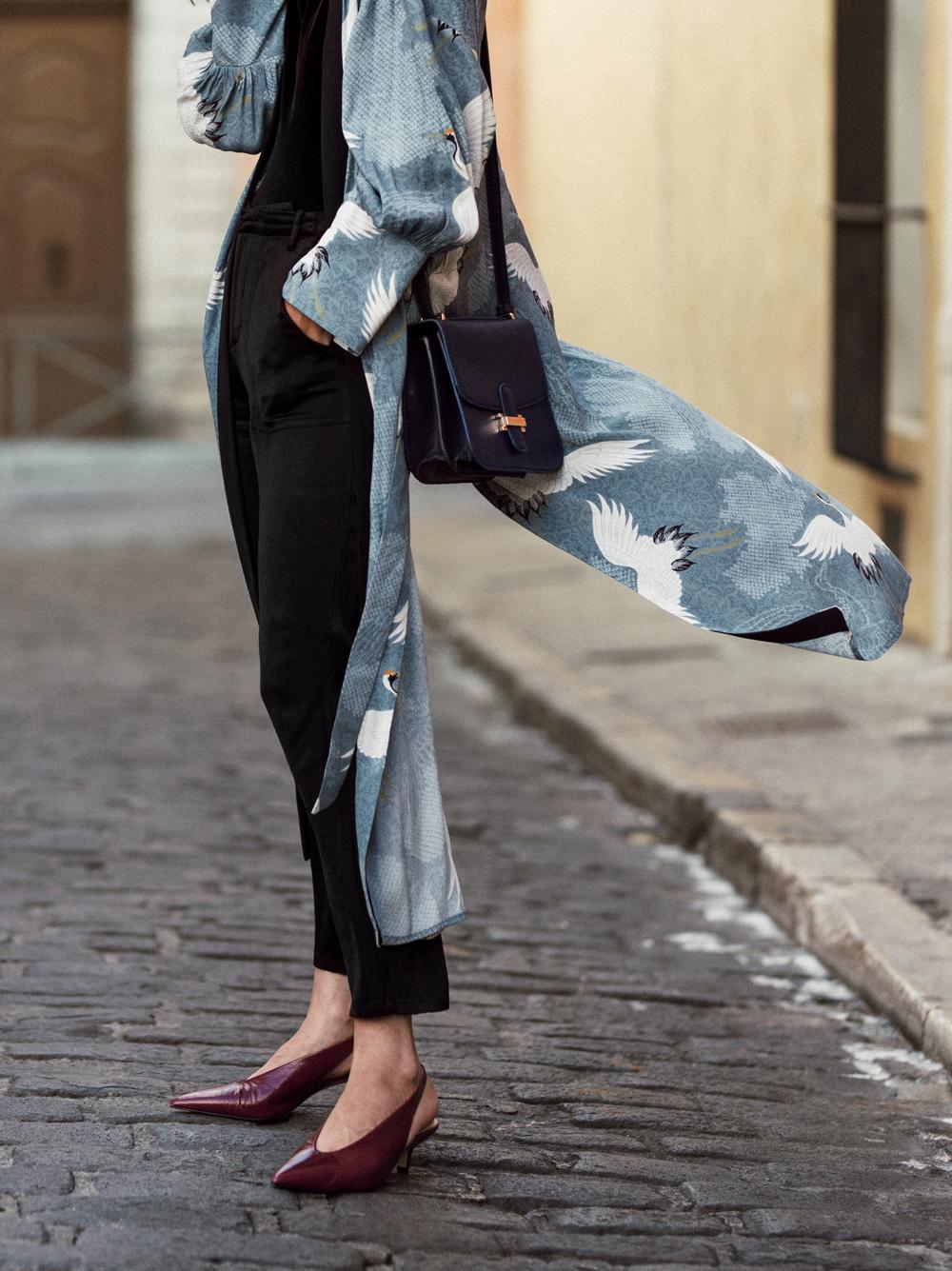 How to dress up a kimono inspired robe