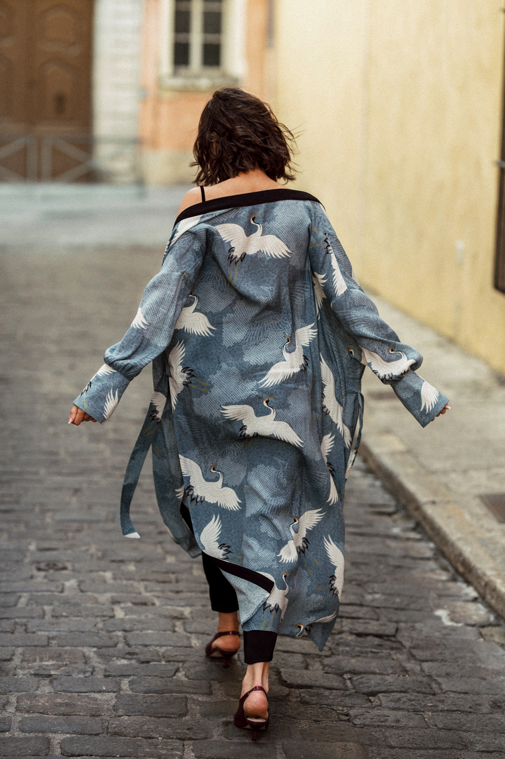 How to dress up a kimono inspired robe