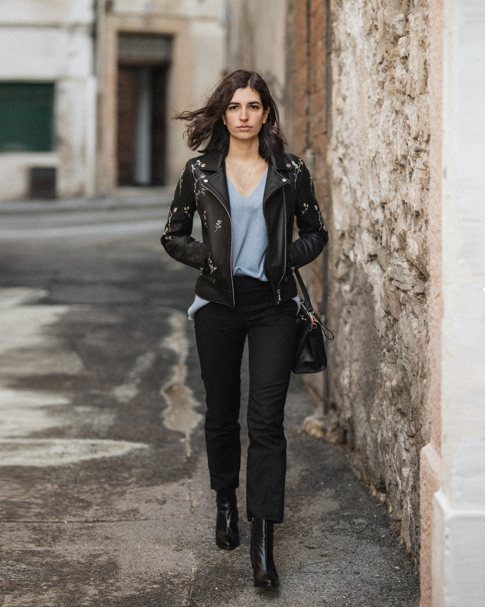 perfect leather jacket outfit inspo women