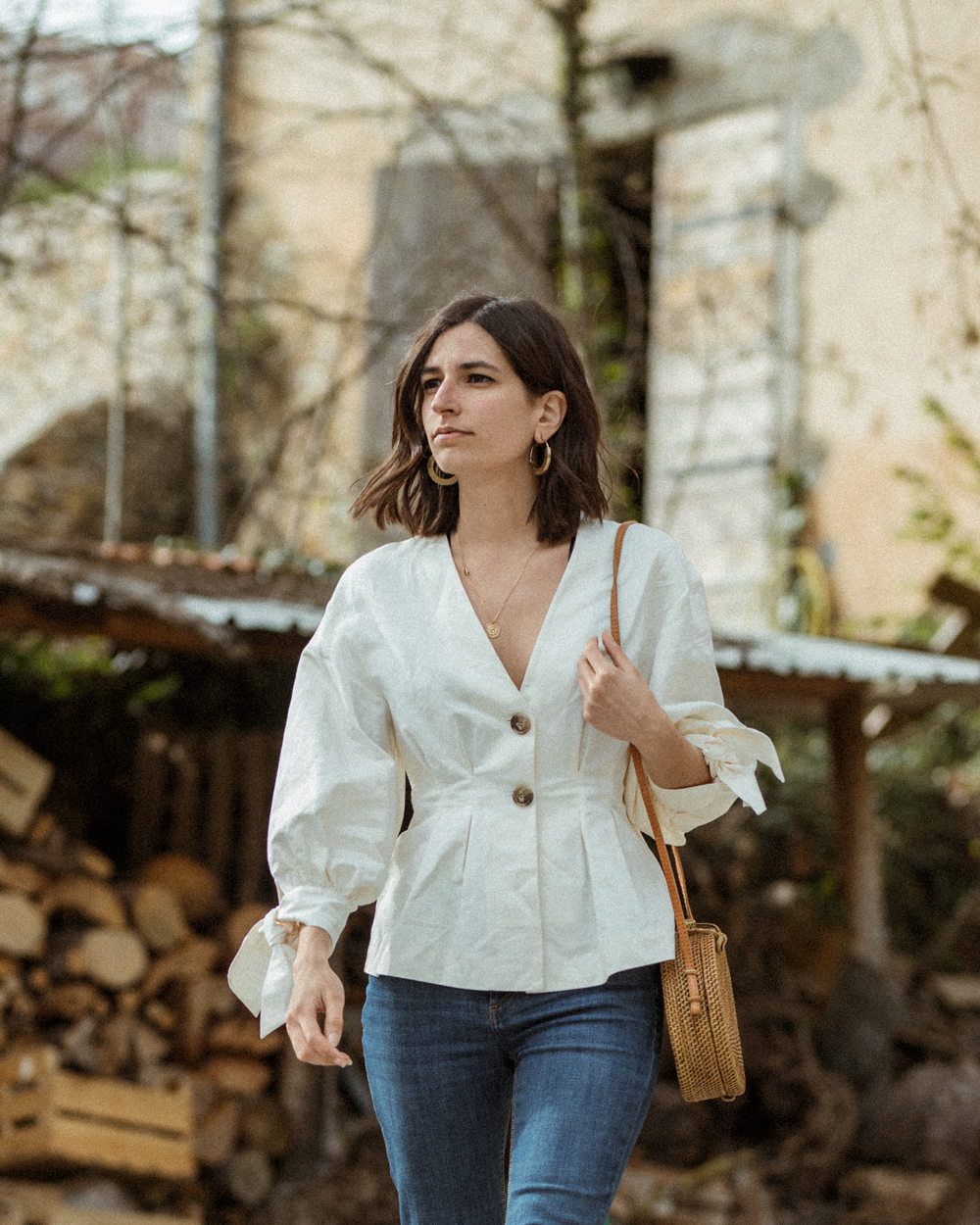 The prettiest vintage inspired blouse for spring