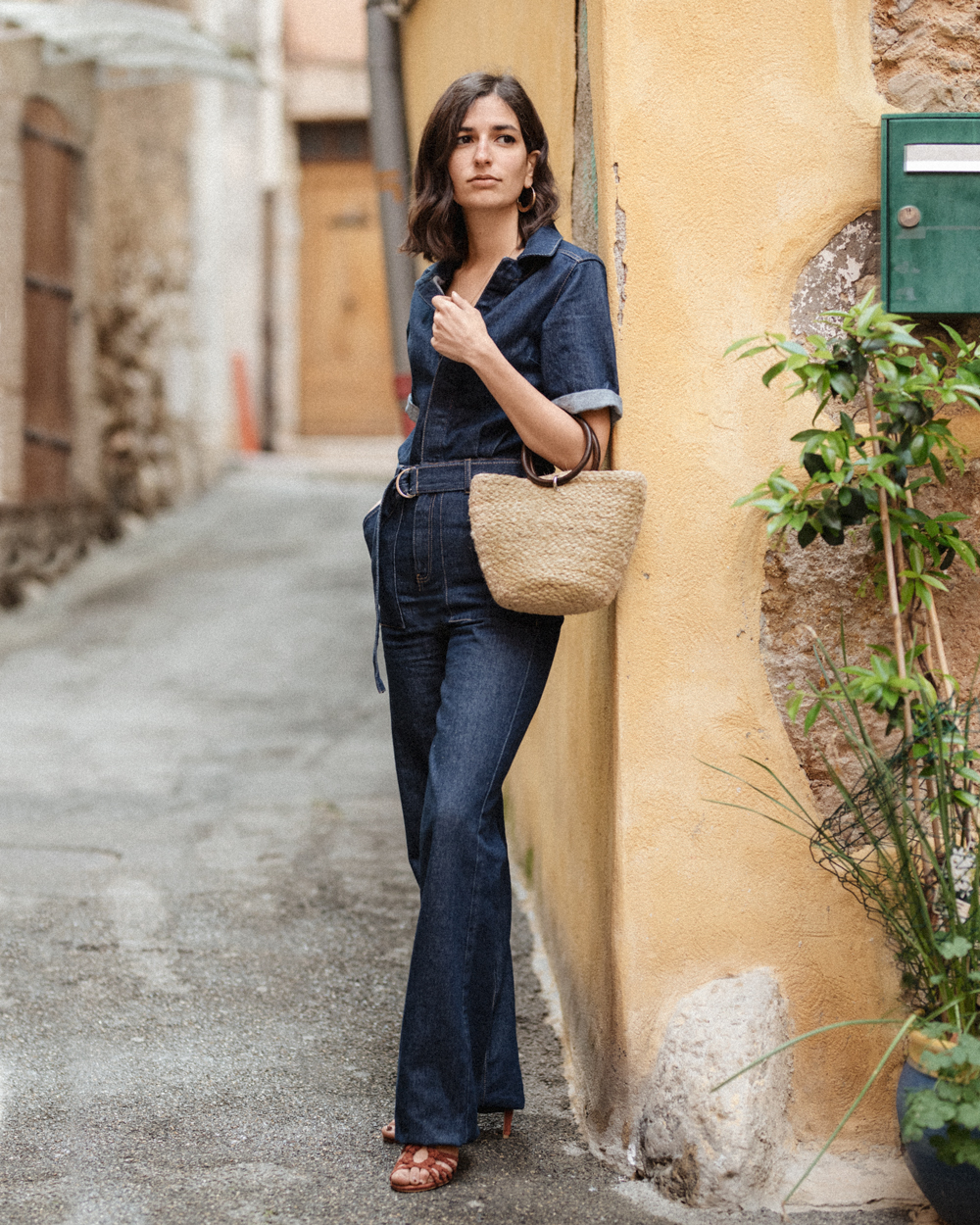 The perfect 70s inspired denim jumpsuit