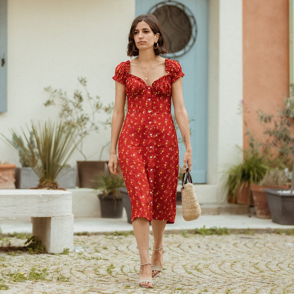 The floral dress you won't take off this summer