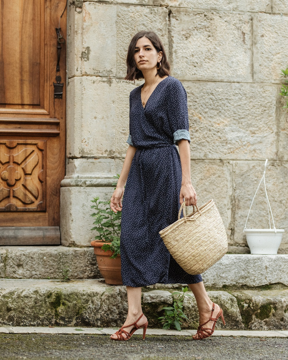 The perfect polka dot wrap dress for summer