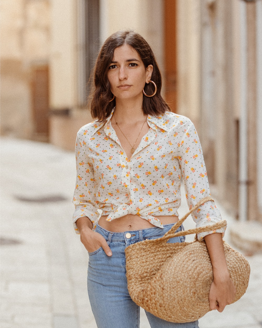 A vintage shirt and a pair of espadrilles