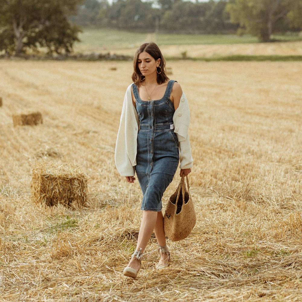 The perfect little denim dress