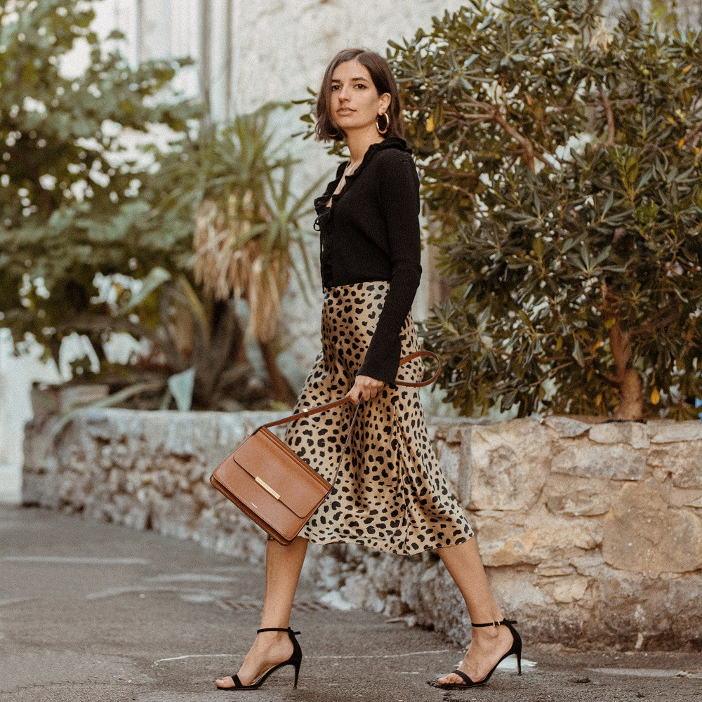 Styling a silk leopard skirt for Autumn
