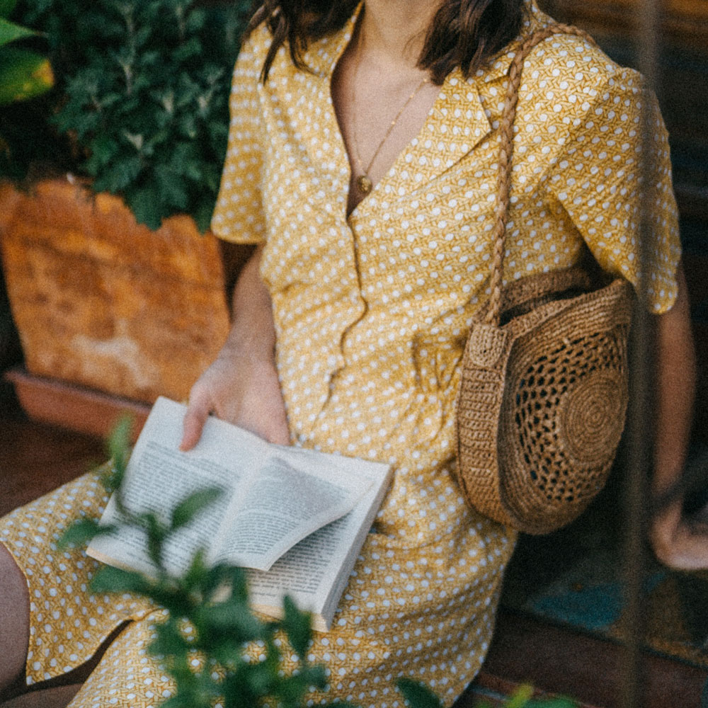 A pretty shirt dress to wear all summer long