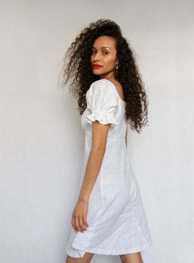 Robe Julia | Lin blanc
