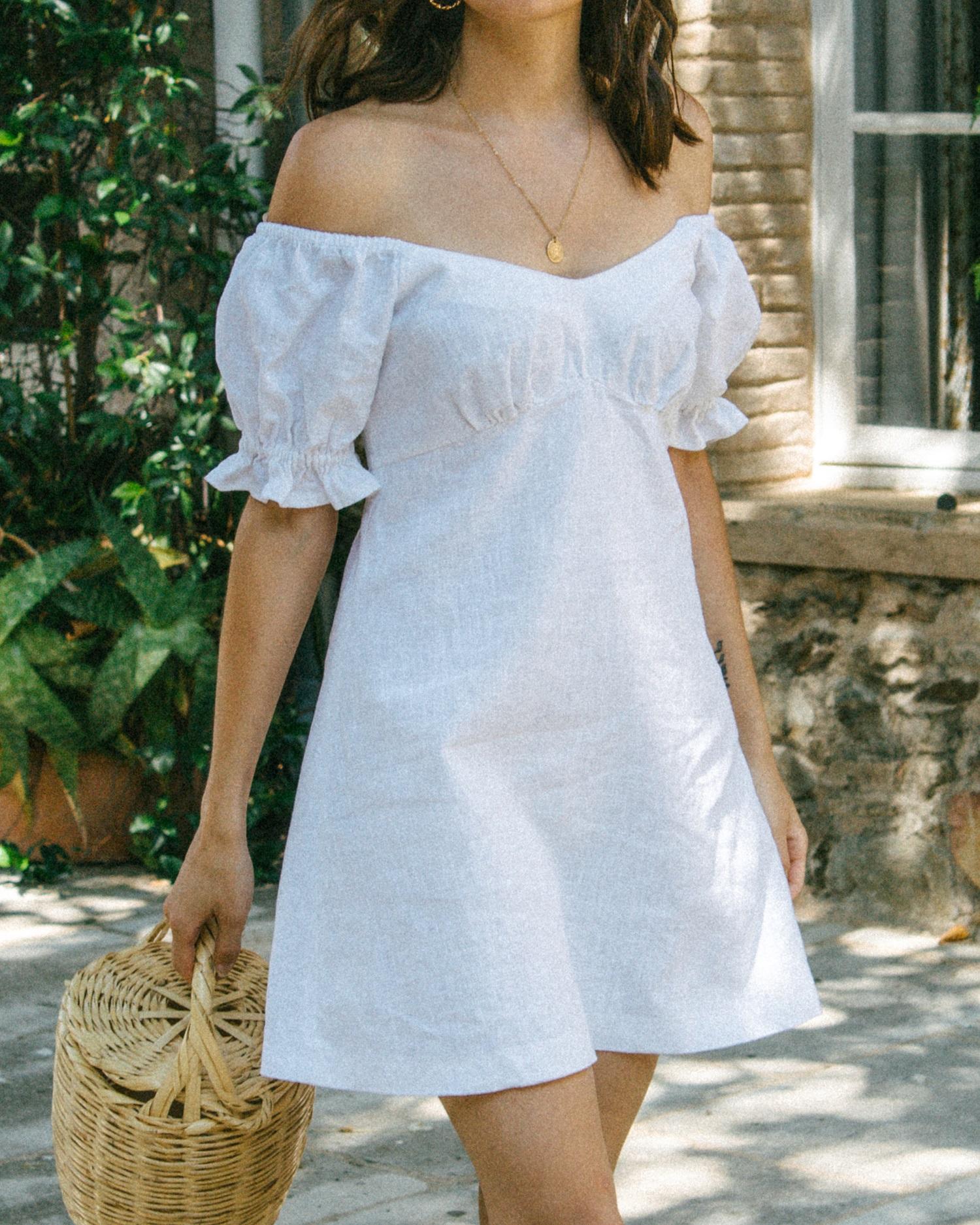 Robe Julia Lin Blanc Aria Di Bari