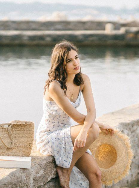 Robe Monica | Soie fleurie