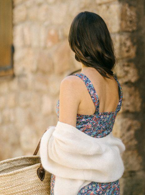 Robe Marzia | Fleurs bleues
