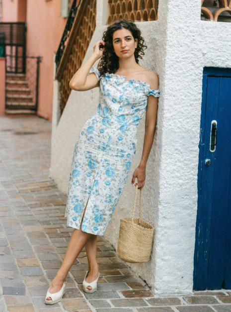 Robe Antonella | Pivoines bleues