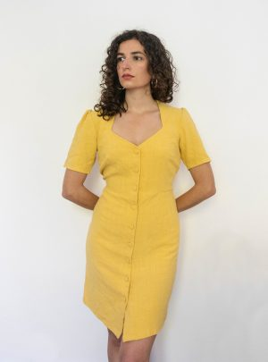 Robe Anthea | Lin jaune